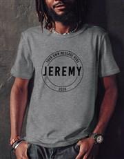 Personalised Retro Stamp T Shirt
