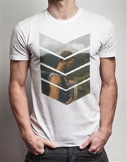 Personalised Photo Chevron T Shirt