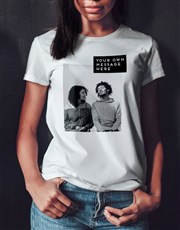 Personalised Photo Block Ladies T Shirt