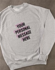 Personalised Layered Text Grey Sweatshirt
