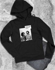 Personalised Photo Block Black Hoodie