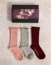 Personalised Happy Birthday Frills Sock Pack
