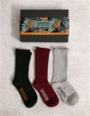 Personalised Tiger Frills Sock Pack