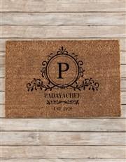 Personalised Simple Sophistication Doormat