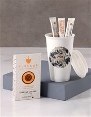 Personalised Floral Camouflage Travel Mug