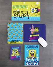 Personalised SpongeBob Splash Stationery Set