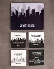 Personalised Skyline Mousepad And Stationery Set