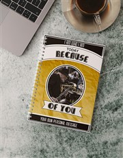 Personalised Because Of You Notebook