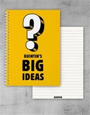 Personalised Big Ideas Notebook