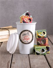 Personalised Jungle Ceramic Travel Mug