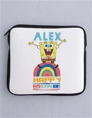 Personalised Happy SpongeBob Kids Tablet Cover