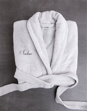 Personalised Mom Of Both Light Grey Fleece Gown