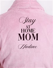 Personalised Slay At Home Mom Pink Fleece Gown