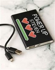 Personalised Level Up Black Powerbank