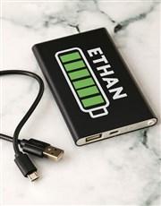 Personalised Battery Black Powerbank