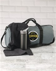 Personalised Grey Gym Duffel Bag