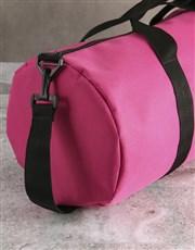 Personalised Name Pink Gym Duffel Bag