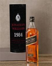 Personalised Johnnie Walker Crest Whisky Tube
