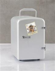 Personalised Polaroid White Desk Fridge