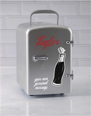 Personalised Cola Silver Desk Fridge