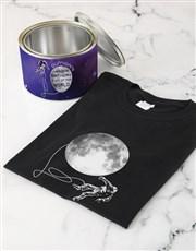 Personalised Interstellar Birthday T Shirt Tin