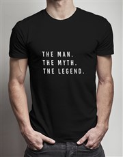 Personalised Man Myth Legend T Shirt Tin
