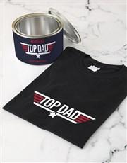Personalised Top Dad T Shirt Tin