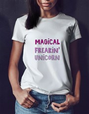 Personalised Magical Unicorn T Shirt Tin