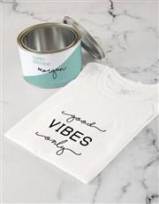 Personalised Good Vibes T Shirt Tin
