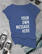 Personalised Royal Blue Ladies T Shirt