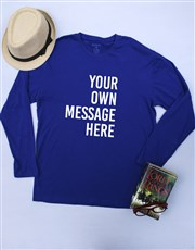 Personalised Blue Mens T Shirt