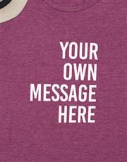 Personalised Maroon Mens T Shirt