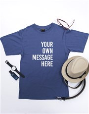 Personalised Petrol Blue Mens T Shirt