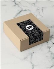 Personalised Black Paisley Apparel Box