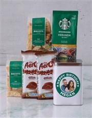Personalised Starbucks Birthday Coffee Tin