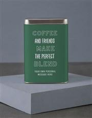 Personalised Starbucks Friendship Coffee Tin