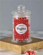 Personalised Red Pattern Lindt Candy Jar