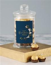 Personalised Floral Birthday Nougat Candy Jar