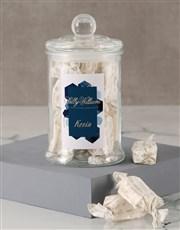 Personalised Geometric Sally Williams Candy Jar