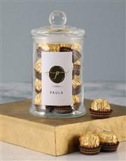 Personalised Name Ferrero Candy Jar