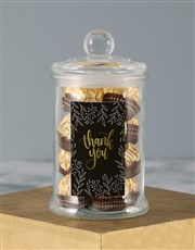 Personalised Thank You Gold Ferrero Candy Jar