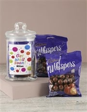 Personalised Get Well Soon Whispers Candy Jar