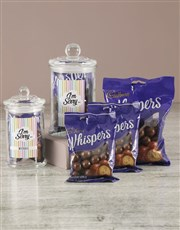 Personalised Apology Whispers Candy Jar