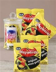 Personalised Thank You Maynards Candy Jar