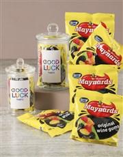 Personalised Good Luck Maynards Candy Jar