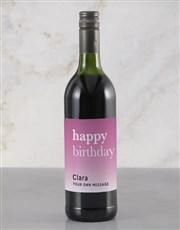 Personalised Pink Birthday Rietvallei Wine