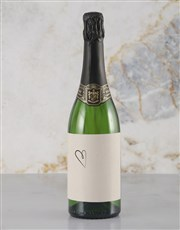 Personalised Heart Message Rietvallei Wine