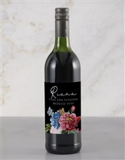 Personalised Colourful Florals Rietvallei Wine