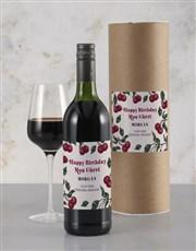 Personalised Cherry Birthday Rietvallei Wine