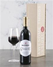 Personalised Elegant Backsberg Wine